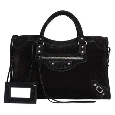 medium size black handbag